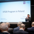 Professor Grzegorz Wrochna (NCBJ) welcomes guests of HTR 2018 Conference (photo: NCBJ)