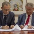 Profesorowie Krzysztof ~Kurek i Andrzej Chmielewski (foto: Marek Pawłowski / NCBJ)