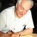 Professor Eryk Infeld, working