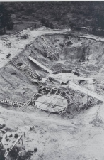 Excavations for EWA, the first nuclear reactor in Świerk