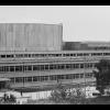 Budynek główny w czasie budowy