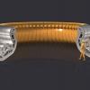 Grafika przedstawiająca część z 54 segmentów diwertora w reaktorze ITER (Credit © ITER Organization, http://www.iter.org)