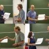 Laureaci Nagród Dyrektora DBP: Lech Szymanowski, Paweł Bielewicz, Artur Ukleja, Anna Durkalec. Wręcza Stanisław Mrówczyński