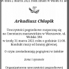 Nekrolog Arkadiusza Chłopika