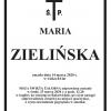 Zmarła śp. Maria Zielińska